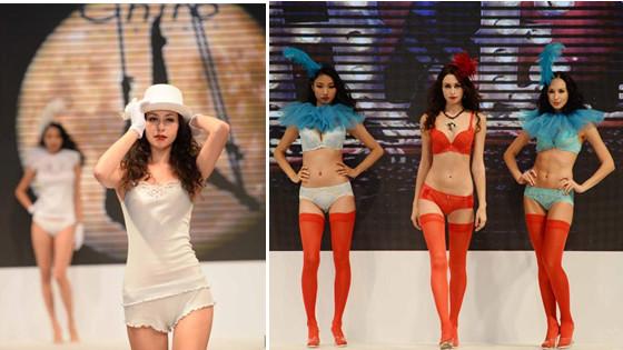 上海内衣展模特内衣秀绝美身段