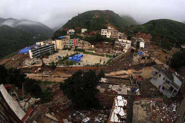 资料图:鲁甸地震-鲁甸震后百日 重建补贴仍未发放 物价上涨难控制图片