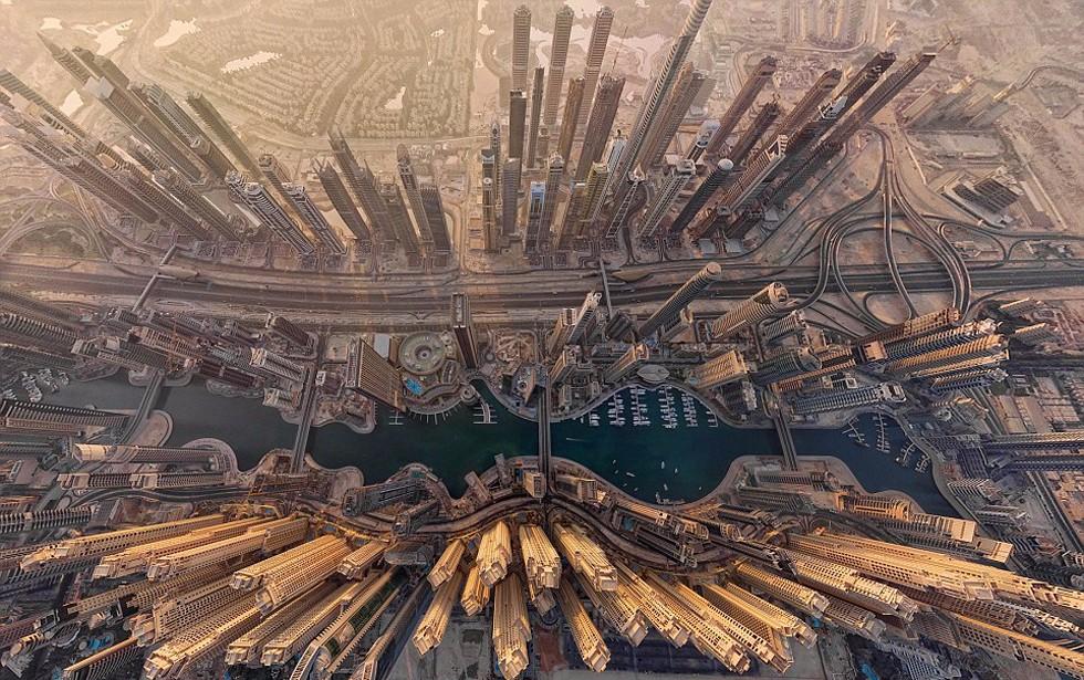 全景航拍图展现全球壮美景观